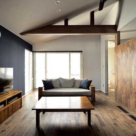 快適な生活空間をイメージして、5つの回遊動線を盛り込んだ「五輪の家」。